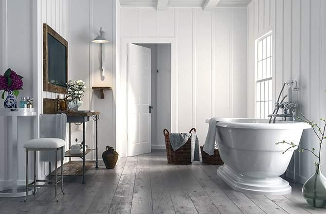 Style Campagne-chic- salle de bain maison de campagne - La Maison Saint-Gobain