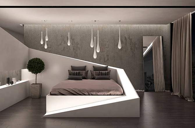Style Moderne design chambre Saint-Gobain.fr