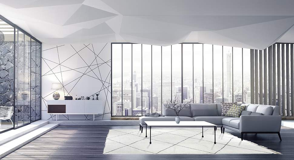 Style Moderne design salon respiration Saint-Gobain.fr