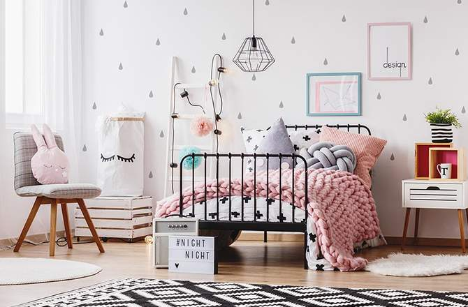 Style Pop chambre rose - Saint-Gobain.fr