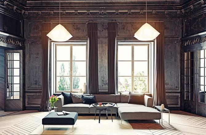 Style Classique-Chic séjour noir de face - Saint-Gobain.fr
