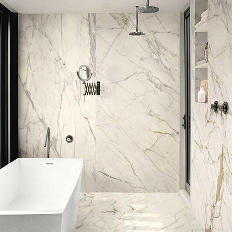 Carrelage effet marbre ou béton grand format