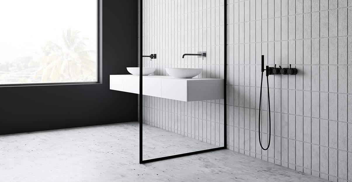 Le béton ciré, possible en sol de douche