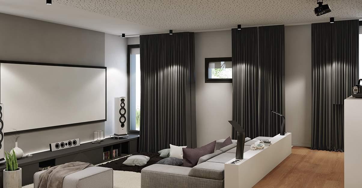un faux-plafond acoustique