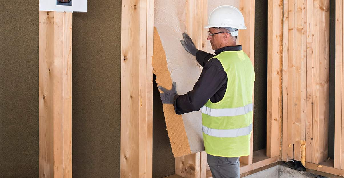 L'extension en ossature bois, idéale pour une bonne isolation.