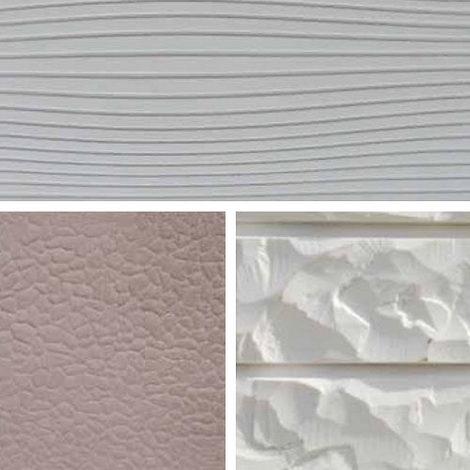 Enduit de façade en relief qui reproduit la texture des revêtements.