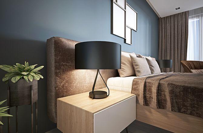 Chambre moderne bleu