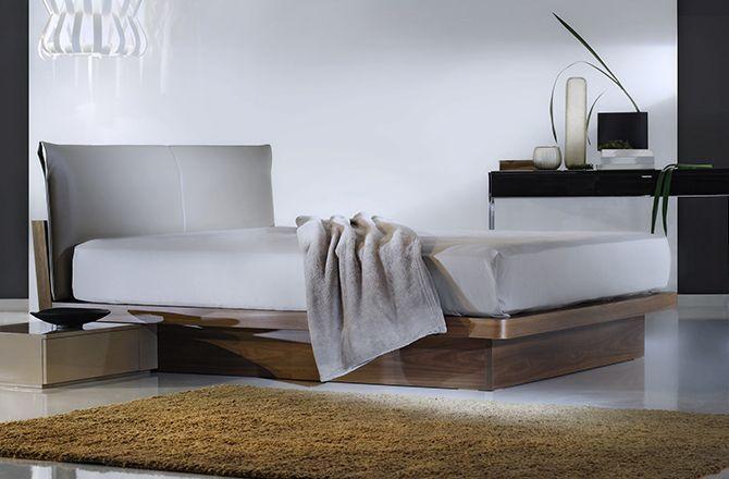 Chambre moderne bois et blanc