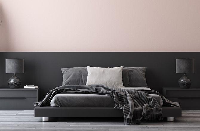 Chambre moderne rose