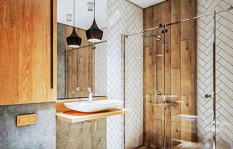 Revêtement mur salle de bain industrielle: le carrelage