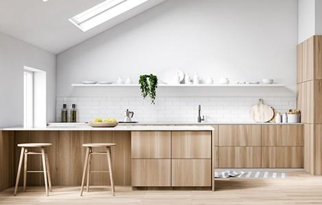 Une cuisine zen en bois clair