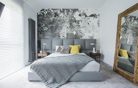 Revêtement chambre moderne: le papier peint