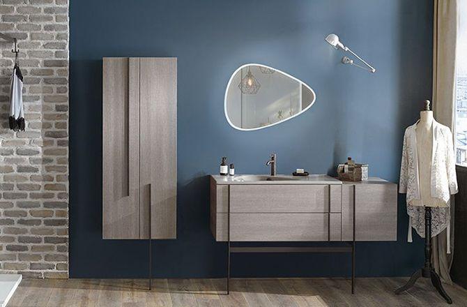 Couleur mobilier salle de bain industrielle