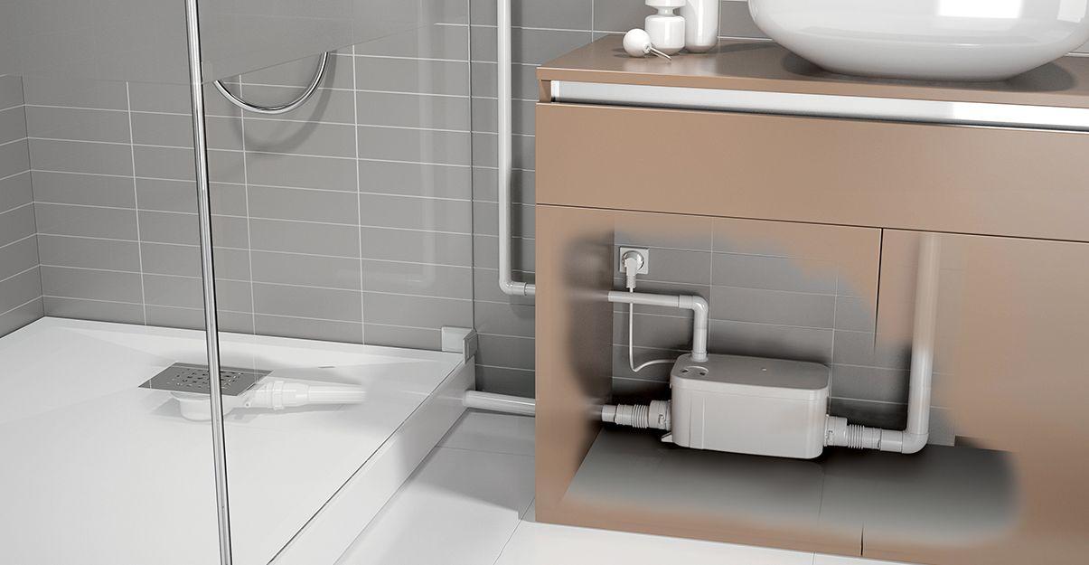 La pompe de relevage, pour installer une douche en sous-sol