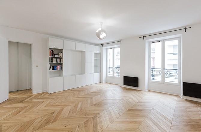 Moderniser un appartement: la peinture blanche