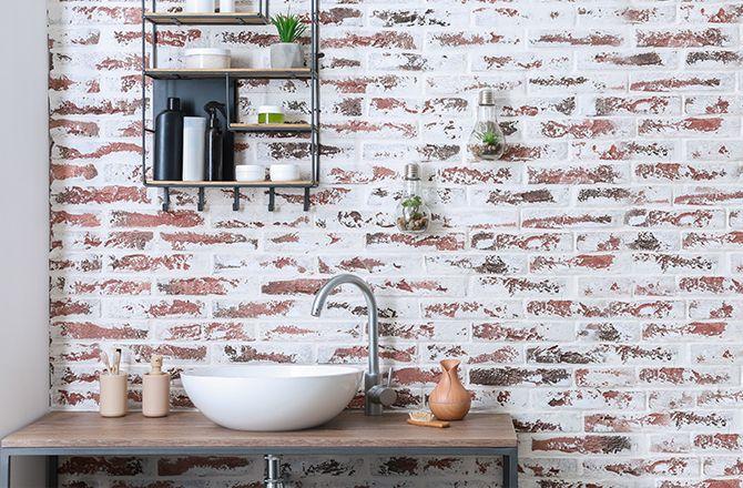 Mobilier salle de bain industrielle: métal et bois