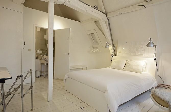 Une chambre d'hôte blanche, comme un cocon...