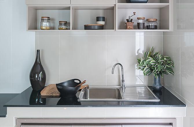 Aménager une petite cuisine: crédence