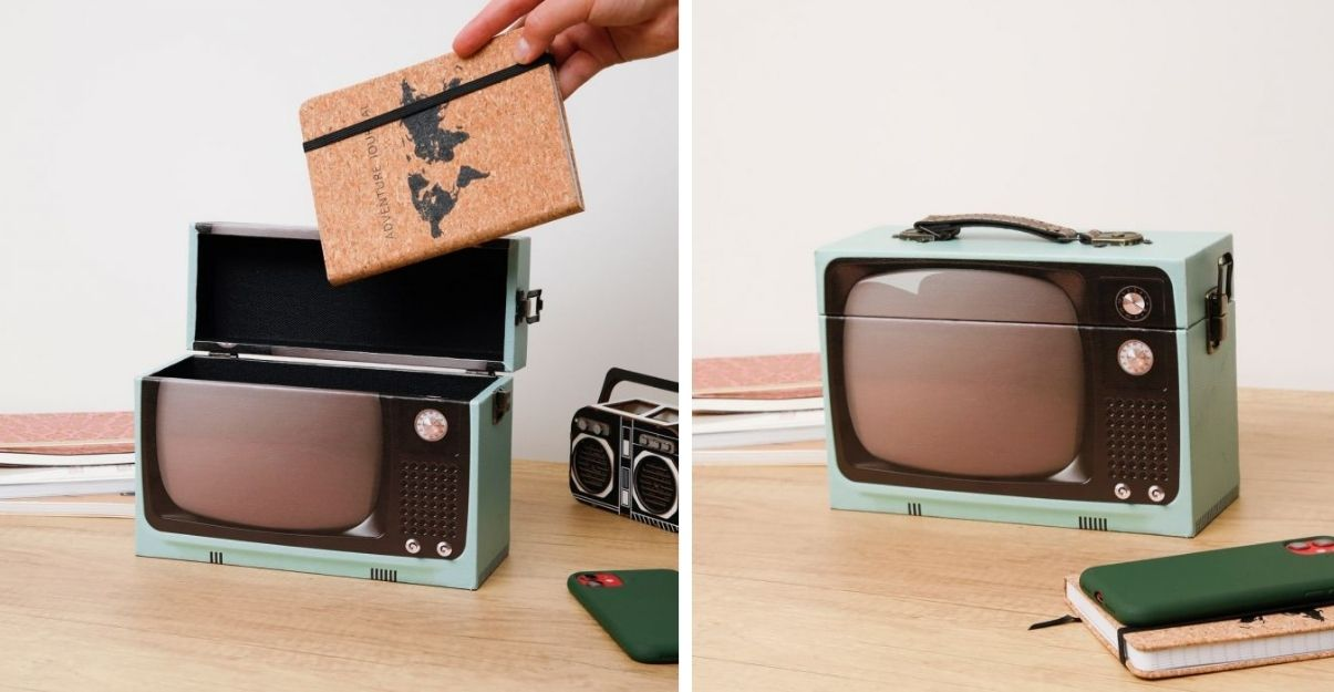 idee cadeau deco boite vintage tv