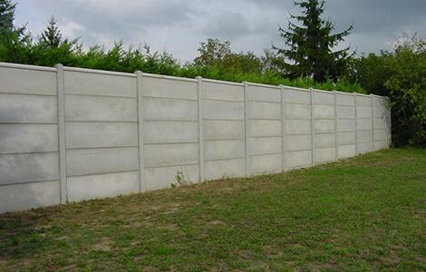 Clôture béton panneaux