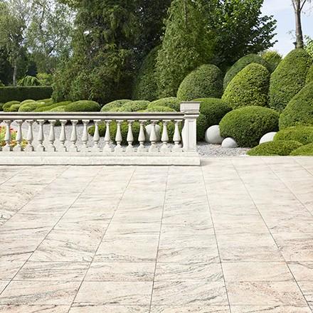 Terrasse en pierre: le marbre