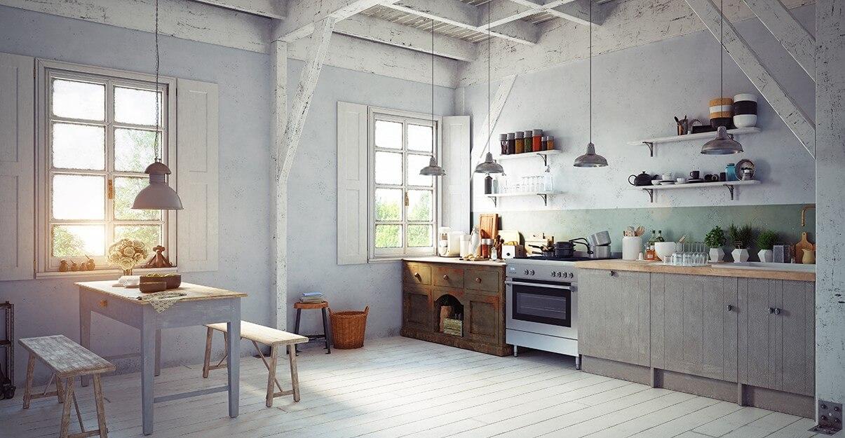 Rénover une cuisine rustique: mix ancien moderne