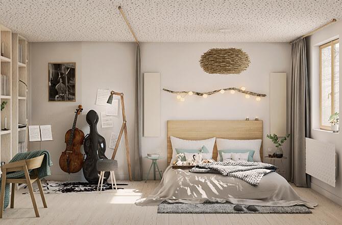 Abaisser un plafond trop haut pour une meilleure acoustique