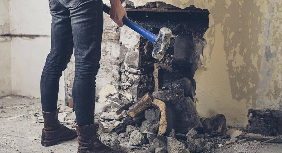 Démolition de cheminée
