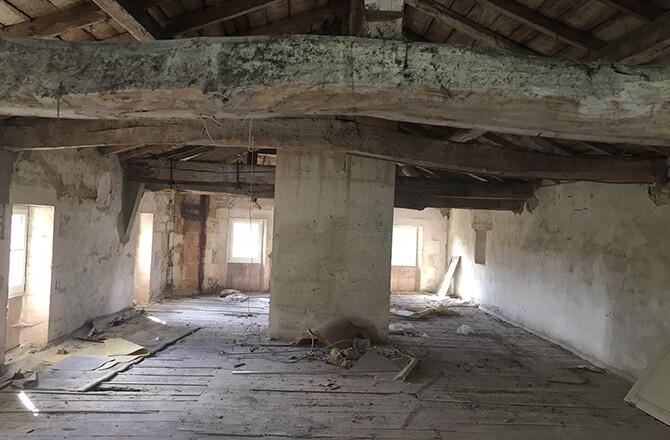 démolition cheminée aménagement combles
