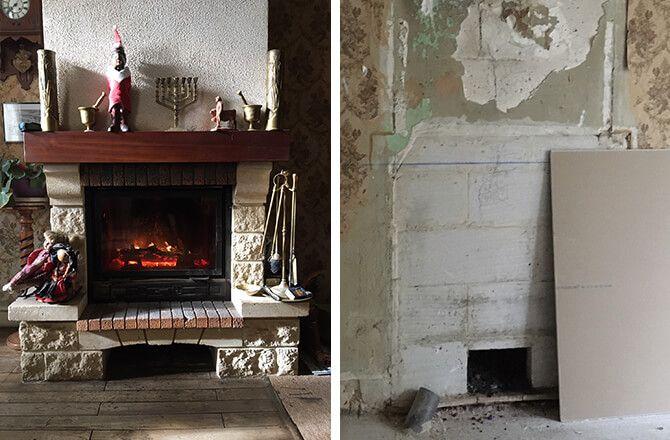 démolition cheminée pour la remplacer