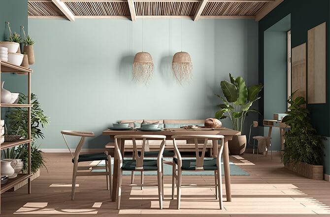 Finition pour plafond bambou