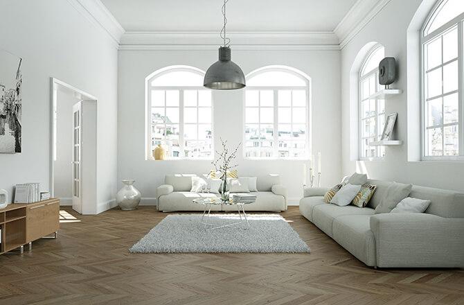 Finition pour plafond salon