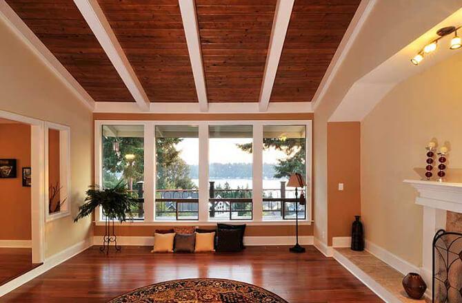 Revêtement pour plafond : faux-plafond lambris