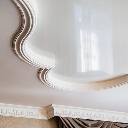 Revêtement pour plafond : toile tendue laquée