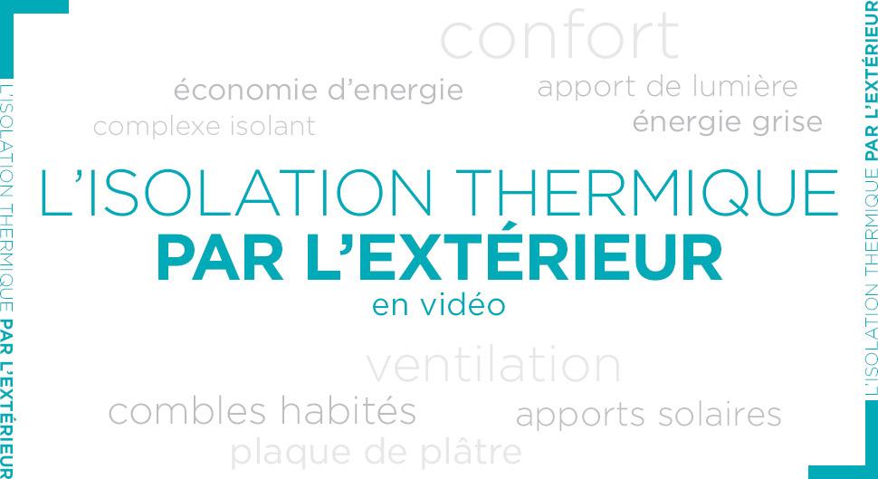 Video sur l'isolation thermique des murs par l'extérieur