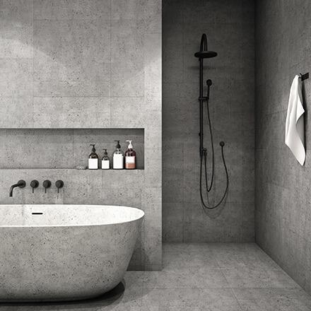Béton décoration: baignoire