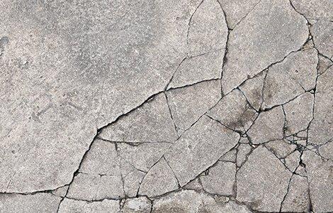 Fissure d'une dalle béton