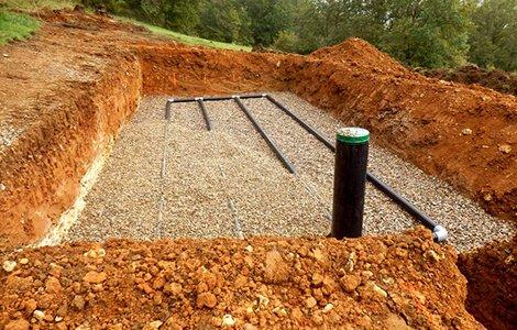 Terrassement: canalisations et poses de drains