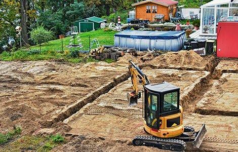 Terrassement: fouille en excavation
