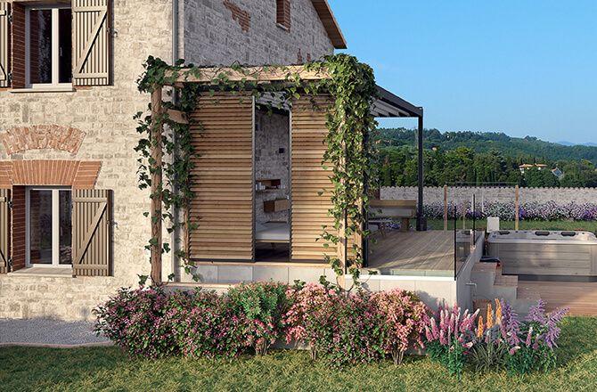 Couvrir une terrasse: le bois