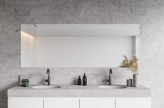 Béton décoration: plan vasque