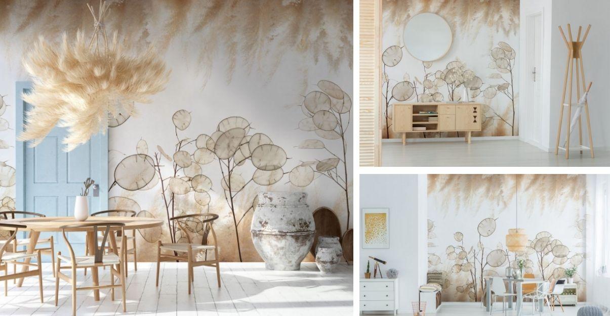Le papier peint panoramique Lunara de chez Lé Papiers de Ninon