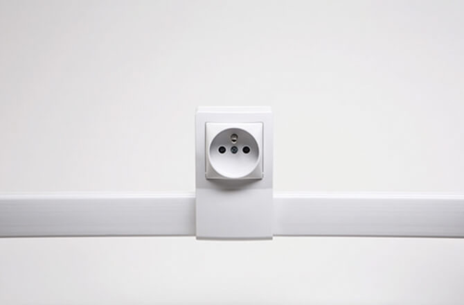 Sécurité électrique: absence de fils apparents