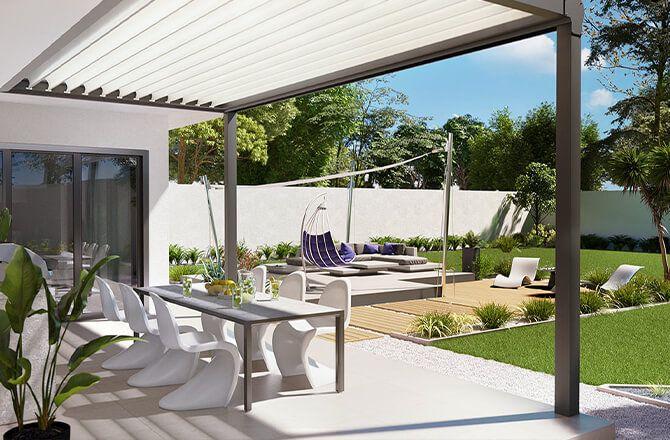 Couvrir une terrasse: l'aluminium