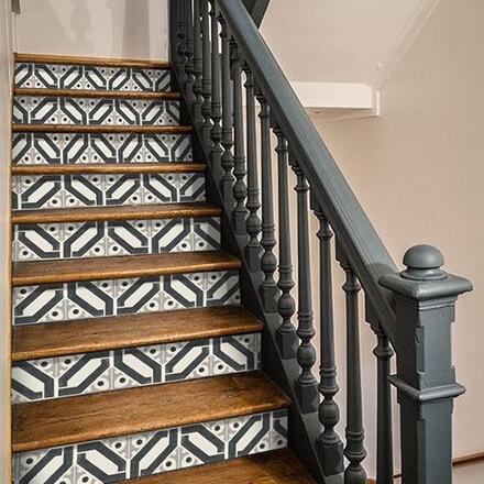 Déco cage d'escalier: contremarche sticker