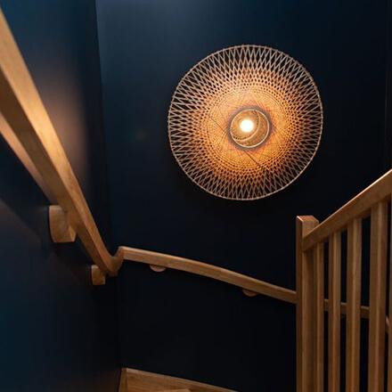 Déco cage d'escalier: total look
