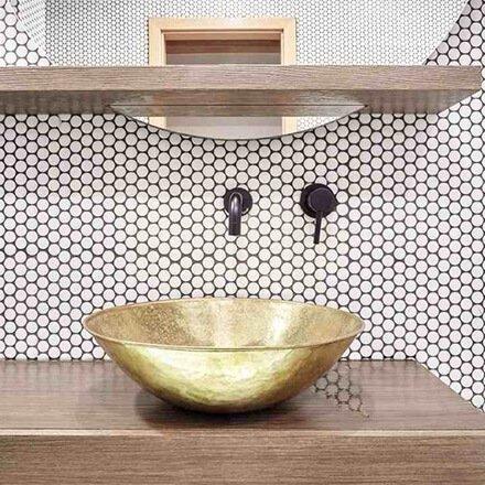 Salle de bain mozaïque élégante