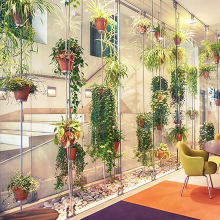 Déco cage d'escalier: végétale