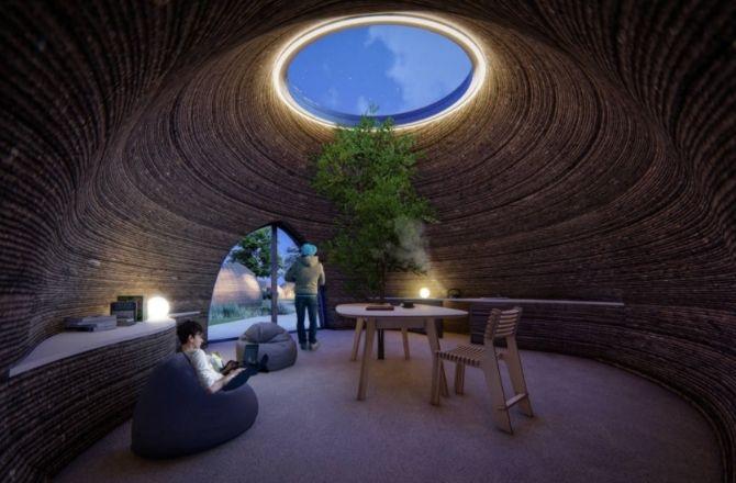 Maison argile en 3D