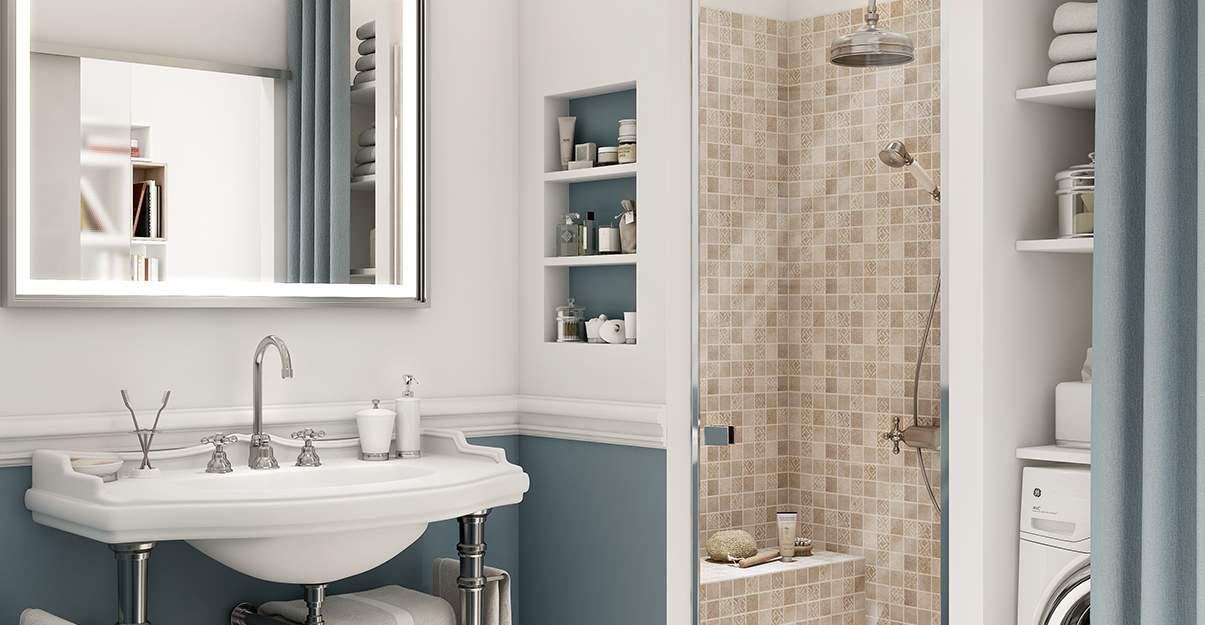 Salle de bain style rétro